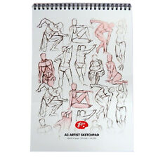 A3 Hue Top Wirebound Artists Large Sketchpad - 30 Sheets, 160gsm White Cartridge