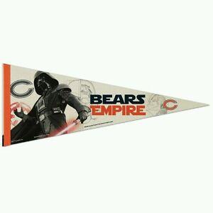"CHICAGO BEARS STAR WARS DARTH VADER PREMIUM QUALITY PENNANT 12""X30"" BANNER"