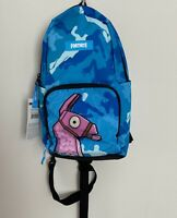 """NEW Fortnite Amplify Backpack Blue with Llama Sling 14"""" Size School Book Bag"""