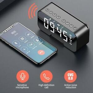 Bluetooth Radiowecker Funkuhr LED USB FM Digital Tischuhr Alarm Uhr Lautsprecher