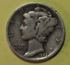 US Mercury silver Dimes Price per Each Coin 1942-D 1943-D 1944-D CHECK Inventory