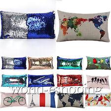 Magic Glitter Sequins Pillows Case Throw Waist Cushion Cover Cafe Car Home Decor