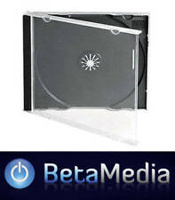 100 x Jewel CD Cases with Black Tray Single Disc - Standard Size Case