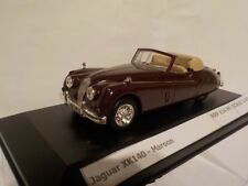 Jaguar XK140 - Maroon , Diecast Metal Model, 1/43 Scale