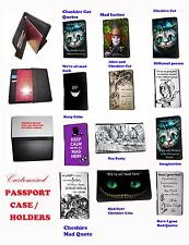 Cheshire Cat Passport Case Alice Wonderland Inspired Mad Quotes Doc Travel Case