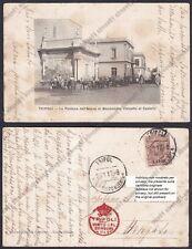 LIBIA Libya TRIPOLI 57 COLONIE COLONIALE Cartolina viaggiata 1917
