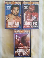 Action Sports Serie - Marvelous Marvin Hagler + Roberto Duran + Knockouts - VHS