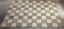 RV Patio Awning Mat Outdoor 9x12 Brown Tan Checkered 9x12CB