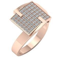 G Genuine Diamond White yellow Rose Gold Right Hand Anniversary Ring 0.60 Ct Si1