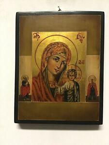 Icona Russa Madonna di KAZAN - Dipinta a Mano