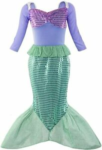Princess Ariel Little Mermaid Role Cosplay Dress up Costume & Accessories
