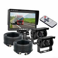 """7"""" Monitor HD + cámara de respaldo de 2x 4PIN +2x 20M Sistema De Visión Trasera para Camión Remolque"""