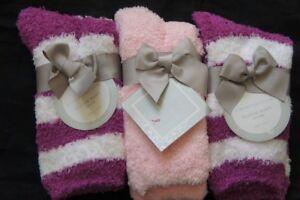Charter Club Womens Socks Shoe Sz 6 - 10 Purple Pink 3 Pairs Super Soft Socks