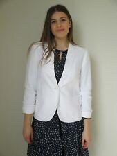 Katies Ladies Natural Spirit Linen Blazer Jacket sizes 8 10 12 14 16 18 20 White