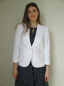 Katies Ladies Natural Spirit Linen Blazer Jacket size 10 12 14 16 18 White