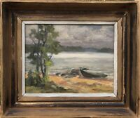 Unknown Painter - Coastal Landscape with Rowing Boat - Evening Mood at Sea