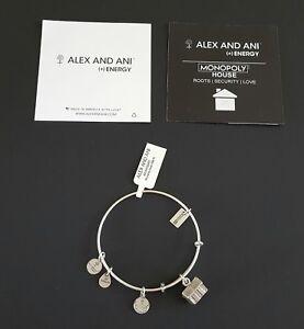 Alex and Ani Monopoly House Charm Bracelet Rafaelian Silver with Box NWT