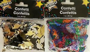 Graduation Icon Metallic Confetti Scatter Décor, Select: Color