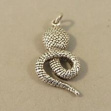 .925 Sterling Silver Small Detailed COBRA SNAKE Pendant NEW Animal 925 PM26