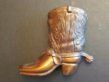 7398----vintage Conneaut Lake Park souvenir copper cowboy boot