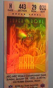 Super Bowl XXIX unused ticket Near Mint San Francisco 49ers Chargers 1995 SB 29