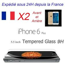 "Film Protection/Protège écran verre trempé iPhone 6 PLUS / 6S+ 5,5"" front + back"