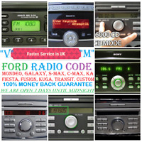 **FASTEST SERVICE** FORD FOCUS CC RADIO CODE 100% FOR M and V SERIES focus KUGA