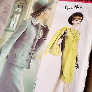 Vogue Paris Original 1313 Dress & Jacket Nina Ricci Bust 34 Cut
