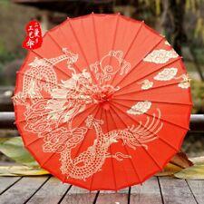 Red Chinese Silk Oil Paper Umbrellas Wedding Parasol Cosplay Dance Decoraction