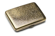 Vintage Retro Brass Copper Swirl Flower Floral Wiredrawing Cigarette Case Box