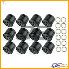 Set of 12 Genuine Oil Filters 15208AA031 & 12 Crush Washer For Subaru 6 Cyl