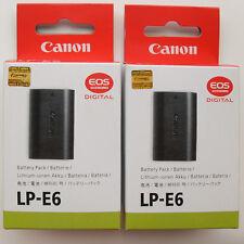 2x LP-E6 Batteries For Canon 5D Mark II III 7D 6D 60D 60Da BG-E6 Grip E6E LPE6