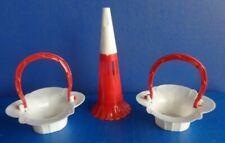Vintage Valentine Hard Plastic Horn & Nut/Candy Cups- Mid Century Rosbro