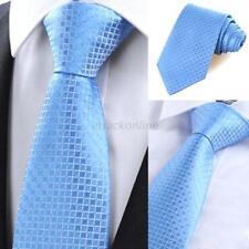Fashion Men Sultry Silk Necktie Plaid Stripe Narrow Jacquard Woven Slim Tie Hot