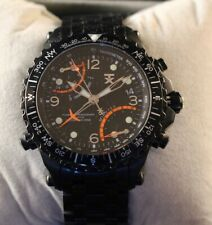 NEW TX 700 SERIES BLACK TONE,SPORT FLY BACK,DUAL TIME ZONE, WATCH T3B921