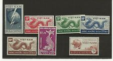 More details for vietnam 1952 two sets mint never hinged  sg.81-6 and sg.87 upu is mint hinged