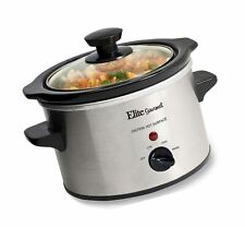 Small Slow Cooker Stainless Steel Crock Pot Mini Kitchen Portable 1.5 Qt New