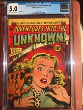 Adventures Into The Unknown 22 CGC 5.0 Cream To Off White Pages Unpressed  SWEET