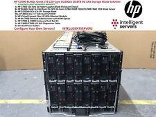 HP C7000 BL460c Gen8 1TB 128-Core D2200sb 28.8TB 6G SAS Storage Blade Solution