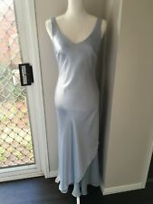 Baby blue ball dress with shawl - size 10