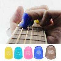 Guitar Finger Protector Fingertip Picks Silicone Guard Plectrum Bass Ukulele 4Pc