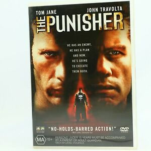 The Punisher (DVD 2004) John Travolta Tom Jane R4 GC Free Tracked Post