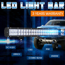 "20""29400W LED Light Bar 7DSpot Flood Cree Combo Beam BLK Offroad Driving Lamp4x4"