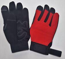 Westchester Men's Sz Large Extreme Work Red & Black w/ Adjustable Wrist A115