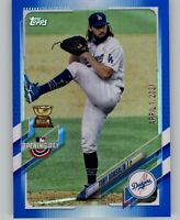 2021 Topps Opening Day TONY GONSOLIN Blue Foil Parallel Dodgers #111