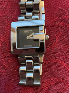 GUCCI 3600L black Dial SS Quartz Watch