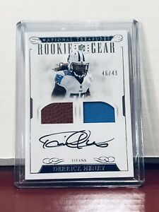 2016 Panini National Treasures DERRICK HENRY Rookie Gear Patch AUTO /49 Titans