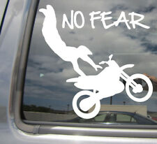 No Fear Freestyle Motocross Trick - FMX Motorcycle Car Vinyl Decal Sticker 04145