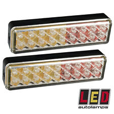 Par De Slimline 135mm doble voltaje 12v - 24v LED Luces Traseras Remolque * 5YR automóvil *