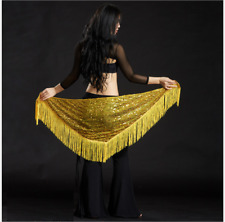 Sequins with Tassels Triangle Hip Scarf Belt Chain Belly Dance Costumes NEW